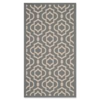 Safavieh Courtyard 2-Foot 7-Inch x 5-Foot Ansley Indoor/Outdoor Rug in Anthracite/Beige