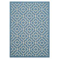Safavieh Courtyard 5-Foot 3-Inch x 7-Foot 7-Inch Ansley Indoor/Outdoor Rug in Blue/Beige