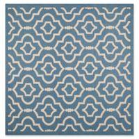 Safavieh Courtyard 7-Foot 10-Inch x 7-Foot 10-inch Ansley Indoor/Outdoor Rug in Blue/Beige