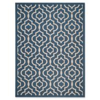 Safavieh Courtyard 8-Foot x 11-Foot Ansley Indoor/Outdoor Rug in Navy/Beige