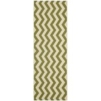 Safavieh Courtyard Abby 2-Foot 3-Inch x 6-Foot 7-Inch Indoor/Outdoor Runner in Green/Beige