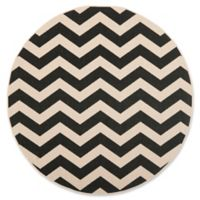 Safavieh Courtyard Abby 7-Foot 10-Inch Round Indoor/Outdoor Area Rug in Black/Beige