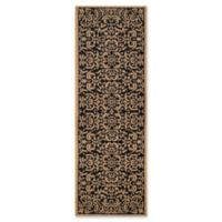 Safavieh Courtyard 2-Foot 2-Inch x 9-Foot 11-Inch Jaylah Indoor/Outdoor Rug in Black/Natural