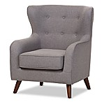 Baxton Studio Ludwig Upholstered Chair in Light Grey