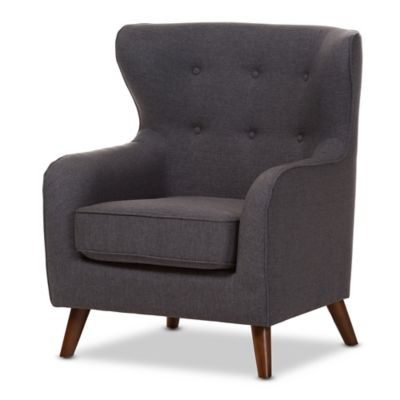 Baxton Studio Ludwig Upholstered Chair In Dark Grey