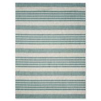 Safavieh Courtyard 8-Foot x 11-Foot Noa Indoor/Outdoor Rug in Grey/Blue