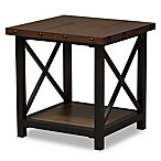 Baxton Studio Herzen Metal and Wood End Table