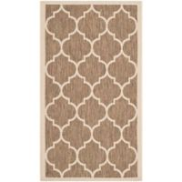 Safavieh Courtyard 2-Foot x 3-Foot 7-Inch Jessa Indoor/Outdoor Rug in Brown/Bone