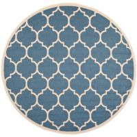 Safavieh Courtyard 4-Foot x 4-Foot Jessa Indoor/Outdoor Rug in Blue/Beige