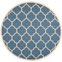 Safavieh Courtyard 5-Foot 3-Inch x 5-Foot 3-Inch Jessa Indoor/Outdoor Rug in Blue/Beige
