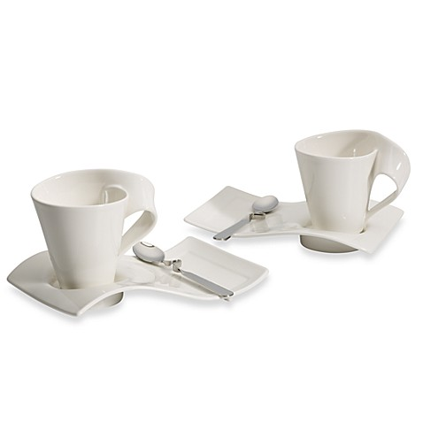 villeroy boch new wave cafe set service for two bed bath beyond. Black Bedroom Furniture Sets. Home Design Ideas