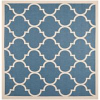 Safavieh Courtyard 7-Foot 10-Inch x 7-Foot 10-inch Jessa Indoor/Outdoor Rug in Blue/Beige