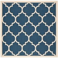 Safavieh Courtyard 7-Foot 10-Inch x 7-Foot 10-inch Jessa Indoor/Outdoor Rug in Navy/Beige