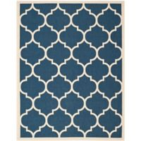 Safavieh Courtyard 8-Foot x 11-Foot Jessa Indoor/Outdoor Rug in Navy/Beige