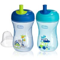 Chicco® NaturalFit® 2-Pack 9 oz. Straw Trainer Cup in Blue/Teal