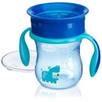 Chicco® NaturalFit® 360-degree 7 oz. Rim Trainer Cup with Handles in Blue