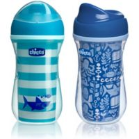 Chicco® NaturalFit® 2-Pack 9 oz. Insulated Rim-Spout 9 oz. Trainer Cup in Teal/Blue