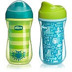 Chicco® NaturalFit® 2-Pack 9 oz. Insulated Rim-Spout 9 oz. Trainer Cup in Teal/Green