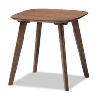 Baxton Studio Dahlia End Table in Walnut