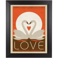 """Love"" Swans 13-Inch x 15-Inch Wall Art"