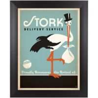 Stork 13-Inch x 15-Inch Wall Art in Blue