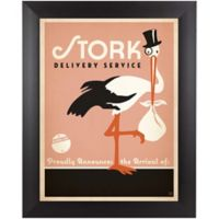 Stork 9-Inch x 11-Inch Wall Art in Pink