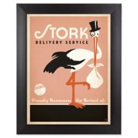 Stork 19-Inch x 25-Inch Wall Art in Pink