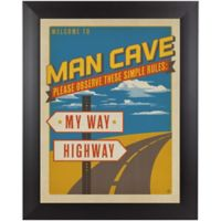 My Way Highway 13-Inch x 15-Inch Framed Wall Art