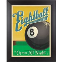 """Eightball Lounge"" 13-Inch x 15-Inch Framed Wall Art"