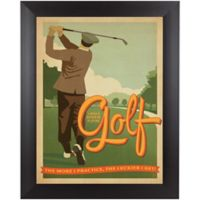 Golf Lucky 13-Inch x 15-Inch Framed Wall Art