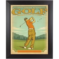 Bad Day at Golf 12-Inch x 15-Inch Framed Wall Art