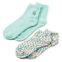 Earth Therapeutics® 2-Pack Super Plush Aloe Moisture Socks in Green