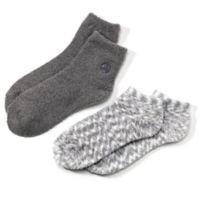 Earth Therapeutics® 2-Pack Super Plush Aloe Moisture Socks in Grey