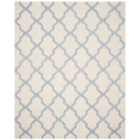 Safavieh Cambridge 9-Foot x 12-Foot Quatrefoil Rug in Ivory/Light Blue