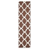 Safavieh Cambridge 2-Foot 6-Inch x 14-Foot Quatrefoil Rug in Dark Brown/Ivory