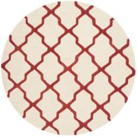 Safavieh Cambridge 6-Foot x 6-Foot Quatrefoil Rug in Ivory/Rust