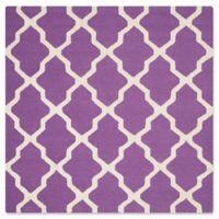 Safavieh Cambridge 8-Foot x 8-Foot Quatrefoil Rug in Purple/Ivory