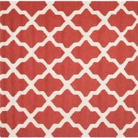 Safavieh Cambridge 8-Foot x 8-Foot Quatrefoil Rug in Rust/Ivory