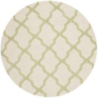 Safavieh Cambridge 8-Foot x 8-Foot Quatrefoil Rug in Ivory/Light Green
