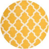 Safavieh Cambridge 6-Foot x 6-Foot Quatrefoil Rug in Gold/Ivory