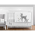 Sweet Jojo Designs Forest Deer 11-Piece Crib Bedding Set in Grey/White
