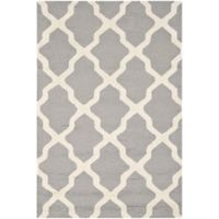 Safavieh Cambridge 3-Foot x 5-Foot Quatrefoil Rug in Silver/Ivory