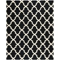 Safavieh Cambridge 8-Foot x 10-Foot Quatrefoil Rug in Black/Ivory