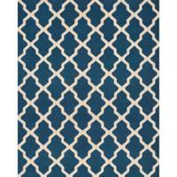Safavieh Cambridge 9-Foot x 12-Foot Quatrefoil Rug in Navy Blue/Ivory