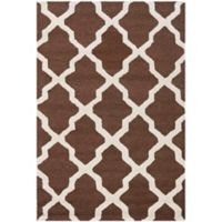 Safavieh Cambridge 3-Foot x 5-Foot Quatrefoil Rug in Dark Brown/Ivory