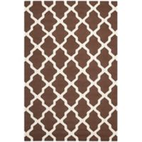 Safavieh Cambridge 6-Foot x 9-Foot Quatrefoil Rug in Dark Brown/Ivory
