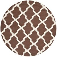 Safavieh Cambridge 6-Foot x 6-Foot Quatrefoil Rug in Dark Brown/Ivory