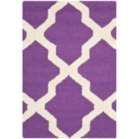 Safavieh Cambridge 2-Foot x 3-Foot Quatrefoil Rug in Purple/Ivory
