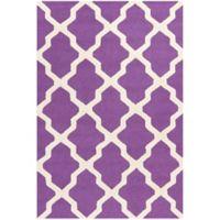Safavieh Cambridge 4-Foot x 6-Foot Quatrefoil Rug in Purple/Ivory