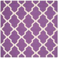 Safavieh Cambridge 6-Foot x 6-Foot Quatrefoil Rug in Purple/Ivory